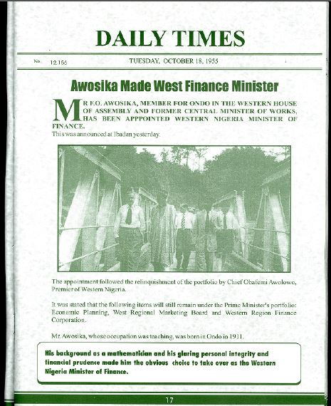 Awosika Made West Finance Minister-pg.14