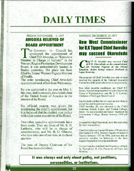 Awosika as commisioner for W. Nigeria-pg.17