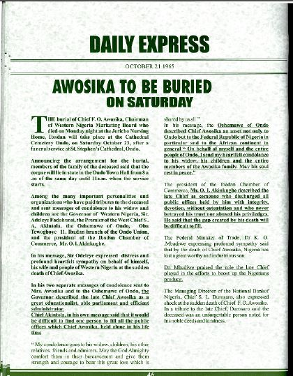 Awosika to Be Buried on Saturday-pg.43